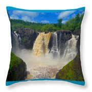 High Falls In July Throw Pillow