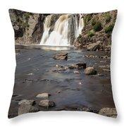 High Falls Of Tettegouche State Park 3 Throw Pillow