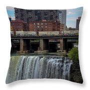 High Falls, Rochester  Throw Pillow