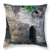 High Falls Rock Formation Throw Pillow
