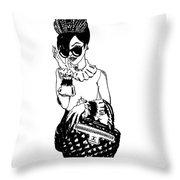 High Fashion 2 Throw Pillow