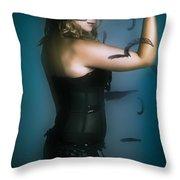 High Fashion Female Mystery Dancer Throw Pillow