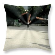 High Fly Throw Pillow by Milan Mirkovic