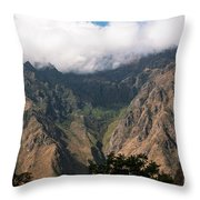 High In The Andes Throw Pillow
