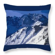 High In The Bavarian Alps Throw Pillow
