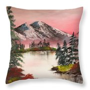 High Lakes Summer Sunset Throw Pillow