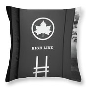 High Line Park Nyc Throw Pillow