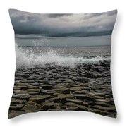 High Low Tide Throw Pillow