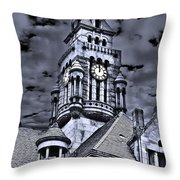 High Noon Black And White Throw Pillow
