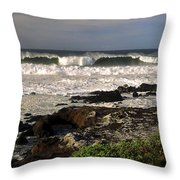 High Ocean Surf Throw Pillow