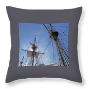 High On The Foremast Throw Pillow