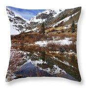 High Peak Reflections Throw Pillow