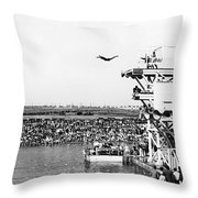 High Platform Swan Dive Throw Pillow