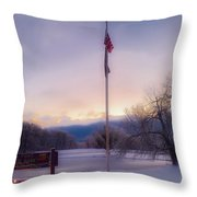 High Point State Park At Sunset Throw Pillow