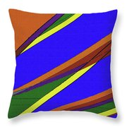 High Power Wires Abstract Color Sky Throw Pillow