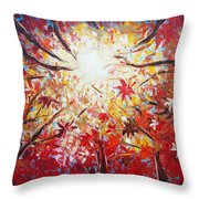 High Red Throw Pillow