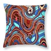 High Rise Abstract Phoenix Throw Pillow