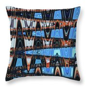 High Rise Construction Abstract # 4 Throw Pillow