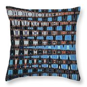 High Rise Construction Abstract Throw Pillow