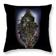 High Rise Living In The New City Throw Pillow