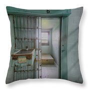 High Risk Solitary Confinement Cell In Prison Throw Pillow