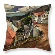 High Road At Jerome Throw Pillow