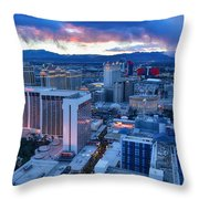 High Roller Sunset Throw Pillow