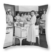 High School Cooking, 1935 Throw Pillow
