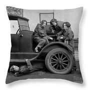 High School Mechanics 1927 Throw Pillow