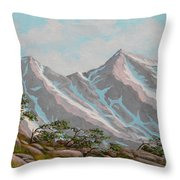 High Sierras Study IIi Throw Pillow