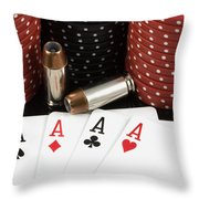 High Stakes Poker Throw Pillow