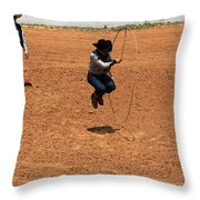 High Steppin Cowboy Throw Pillow
