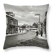 High Street - Lye - 1960's    Ref-58 Throw Pillow