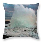 High Surf Explosion Throw Pillow