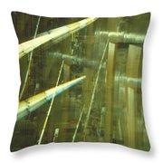 High Tech Blur Throw Pillow