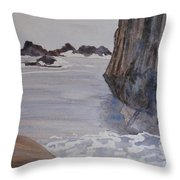 High Tide At Seal Rock Throw Pillow