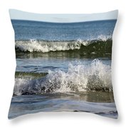High Tide Coming Throw Pillow