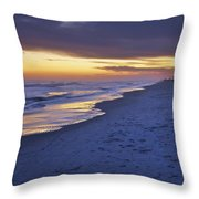 High Tide In Fading Light Throw Pillow