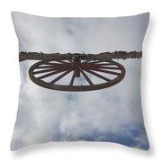 High Wagon Wheel Throw Pillow