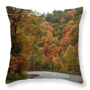 High Walls Of Fall Colors Throw Pillow