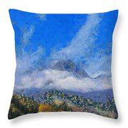 High Winds And Clouds Throw Pillow