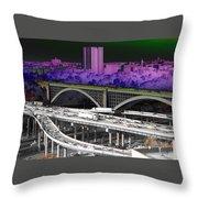 Highbridge Bronx  Throw Pillow