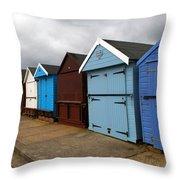 Highcliffe Huts 4 Throw Pillow