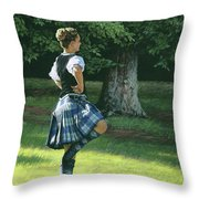 Highland Dancer Throw Pillow