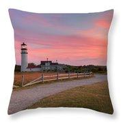 Highland Light Sunset 2015 Throw Pillow