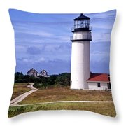 Highland Light Truro Throw Pillow