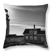 Highland Lighthouse Bw Throw Pillow