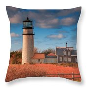 Highland Lighthouse Truro Massachusetts Throw Pillow