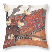 Highland Pipes II Throw Pillow