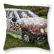 Highland Stoneware Car Throw Pillow